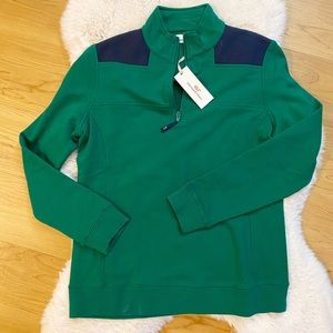 NWT Vineyard Vines Green Color block Sweater